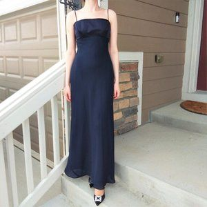 Vintage Navy Blue Evening Dress